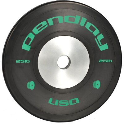 25 lb Elite Black Bumper Plates in Colored Ink (Set of 2)