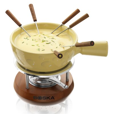 Boska Holland Cheesy Fondue in Mahogany Wood