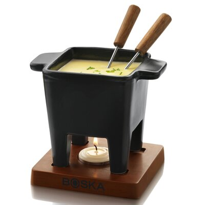 "Boska Holland 5.12"" Tapas Cheese Fondue in Black"