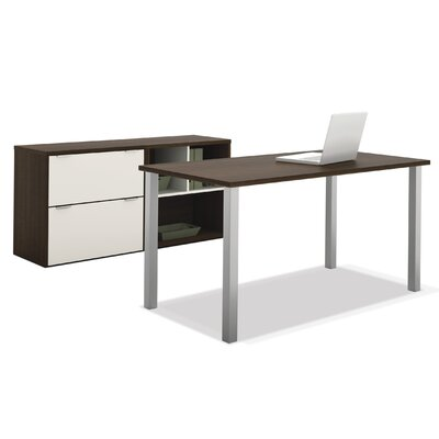 Bestar Contempo Computer Desk with Storage
