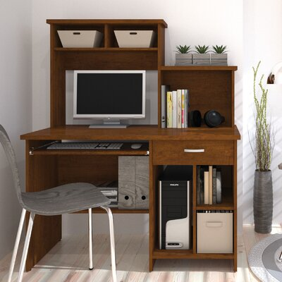active computer desk with bookcase wayfair