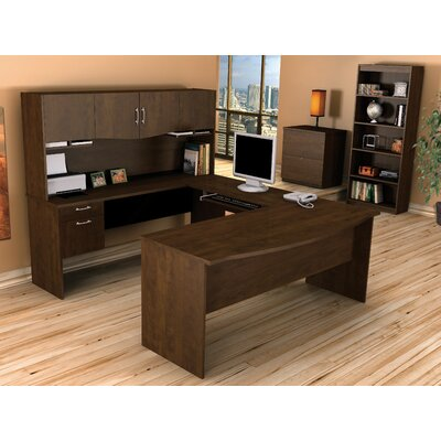 Bestar ndra,Harmony U-Shape Executive Workstation with Storage Drawers