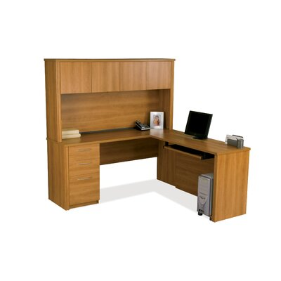 Bestar Embassy L-Shaped With Hutch Workstation Kit
