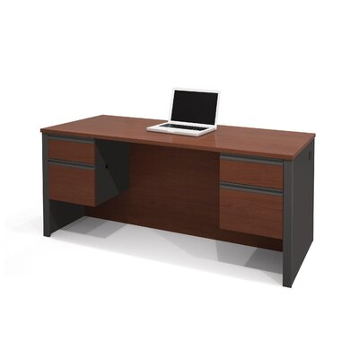 Bestar Prestige + Executive Desk With Dual Half Pedestals