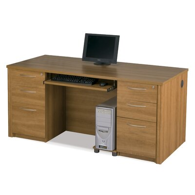 Bestar Embassy Executive Desk Kit Including Assembled Pedestals