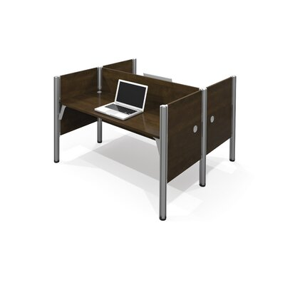 Bestar Pro-Biz Double Face-to-Face Workstation With 5 Melamine Privacy Panels