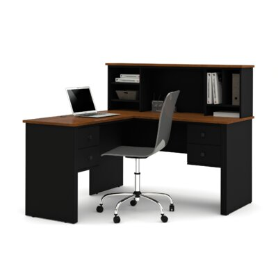 Bestar Somerville Corner Desk with Hutch