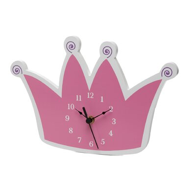 Trend Lab Pink Star Princess Tiara Wall Clock