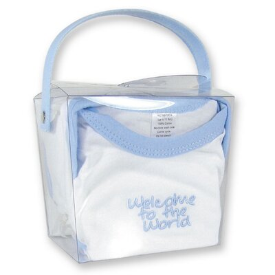 "Trend Lab Good Fortune Two Piece ""Welcome to the World"" Newborn Gift Set in Blue"