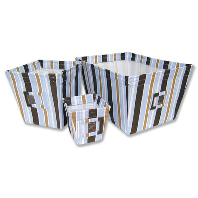Trend Lab Max Fabric Storage Bins in Stripes