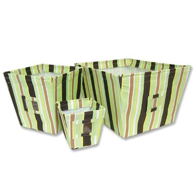 Giggles Fabric Storage Bins in Stripe
