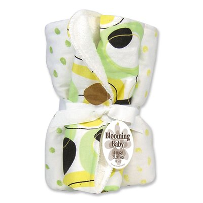 Trend Lab Giggles Four Piece Terry Burp Cloth Set