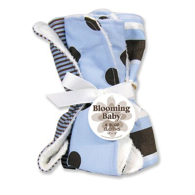 Trend Lab Max Four Piece Terry Burp Cloth Set