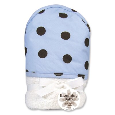 Trend Lab Max Polka Dots Terry Hooded Towel