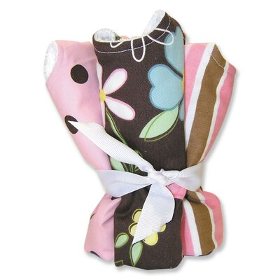 Trend Lab Maya Blooming Bouquet 4 Pack Bib Set