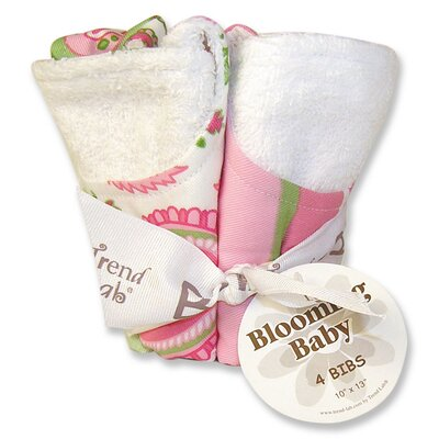 Trend Lab Paisley Park Blooming Bouquet 4 Pack Bib Set