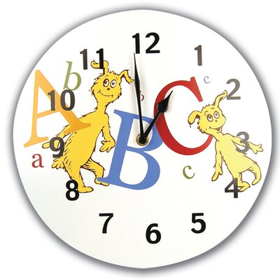 "Trend Lab Dr Seuss ABC 11"" Wall Clock"