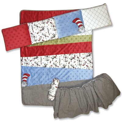 Trend Lab Dr Seuss Cat in the Hat 4 Piece Crib Bedding Set