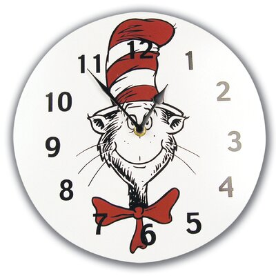 Trend Lab Dr Seuss Cat in the Hat Wall Clock