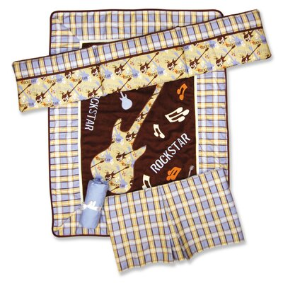 Trend Lab Rockstar 4 Piece Crib Bedding Set
