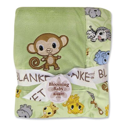 Trend Lab Chibi Zoo Monkey Framed Receiving Blanket