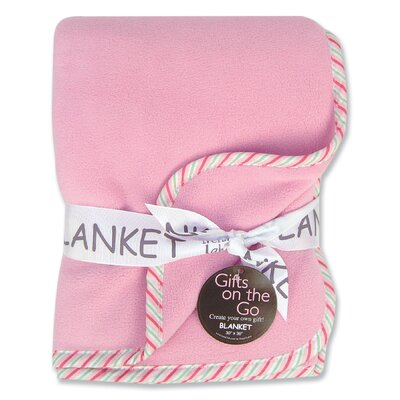 Trend Lab Tulip Pink Fleece Receiving Blanket