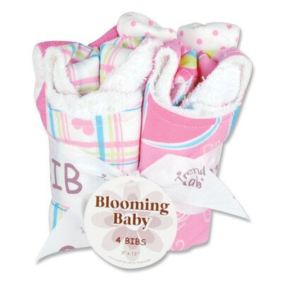 Trend Lab Groovy Love Blooming Bouquet Bib (4 Pack)
