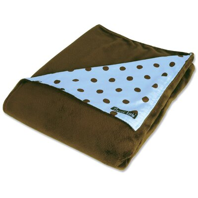 Trend Lab Max Polka Dot Reversible Velour Baby Blanket