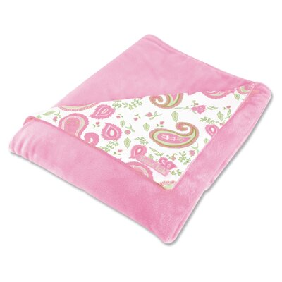 Trend Lab Paisley Park Reversible Velour Baby Blanket