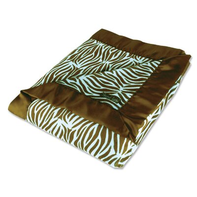 Trend Lab Zebra Receiving Blanket Framed in Blue