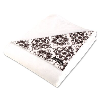 Trend Lab Versailles Receiving Blanket in Black and White 2