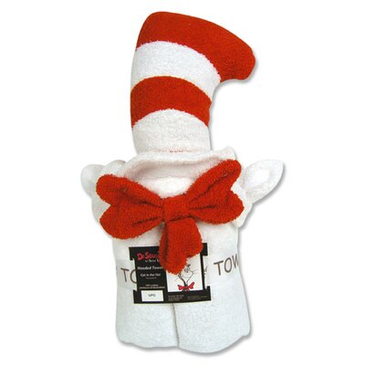 Cat in Hat Character Hooded Towel