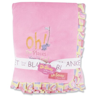Trend Lab Dr. Seuss Oh The Places You''ll Go Receiving Blanket Ruffle Trimmed