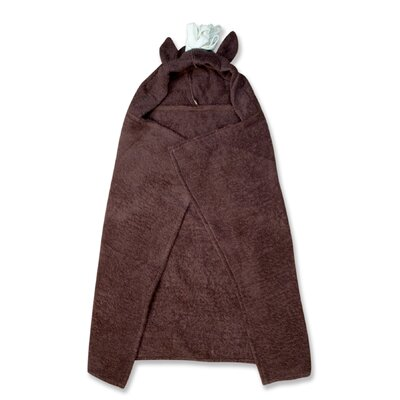 Horse Character Hooded Towel in Brown