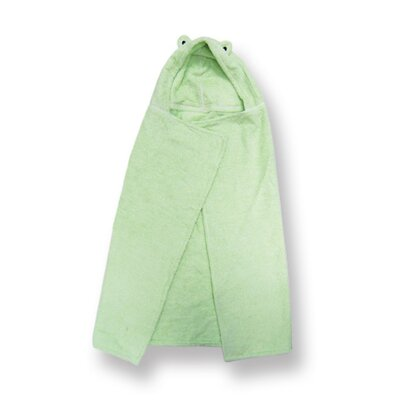 Trend Lab Terry Velour Green Frog Hooded Towel