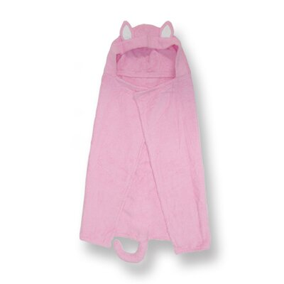 Character Pink Kitty Hooded Towel
