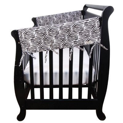 Trend Lab 2 Short Piece Zahara Zebra Percale Cribwrap® Wide Rail Cover