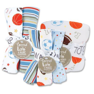Trend Lab Little MVP Bouquet Bath and Burp Set