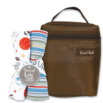 Trend Lab Little MVP Bouquet Bottle Bag and Burp Cloth Set