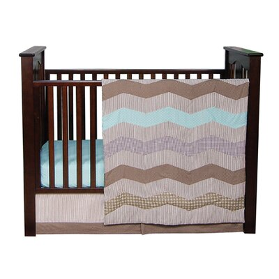 Trend Lab Cocoa Mint Crib Bedding Collection
