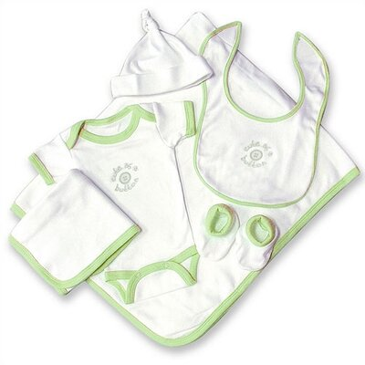 "Trend Lab Good Fortune Six Piece ""Cute as a Button"" Newborn Gift Set"