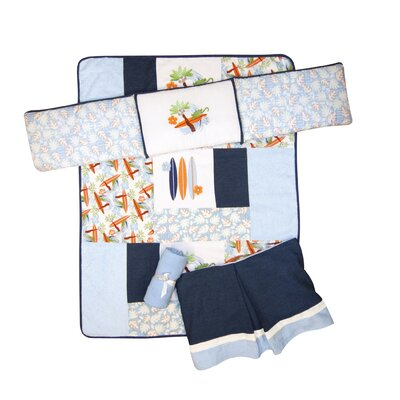 Surf's Up 4 Piece Crib Bedding Set