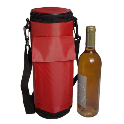 Maranda Enterprises Re-Freezable Wine Bottle Cooler in Red