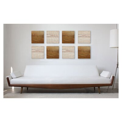 RS Furnishings Pura Vida I Off The Grid Teak Panel in Natural with 18kt Gold Grid