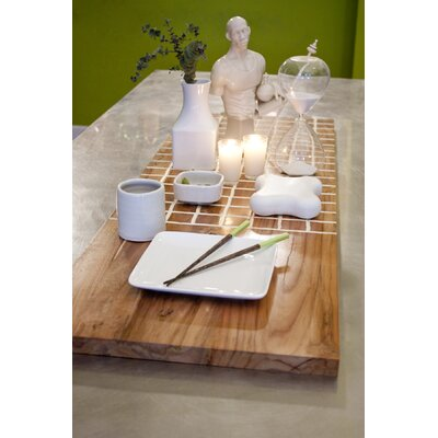 RS Furnishings Pura Vida I Off The Grid Teak Panel in White with Natural Grid