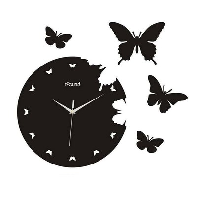 Creative Motion Butterfly Wall Clock | Wayfair