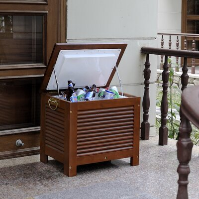 merry products outdoor wooden patio cooler reviews wayfair
