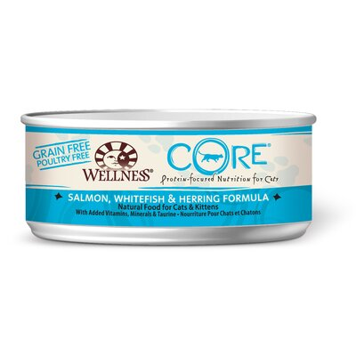 Wellness Core Salmon Whitefish and Herring Canned Cat Food (5.5-oz, case of 24)