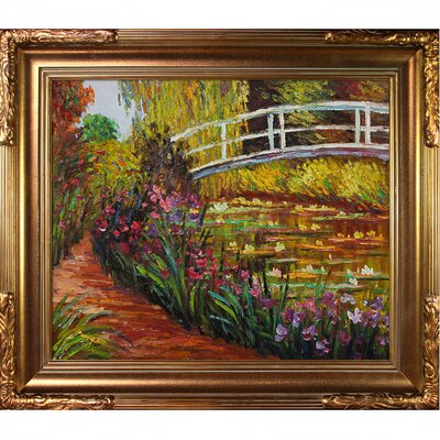 Tori Home The Japanese Bridge by Monet Framed Original Painting