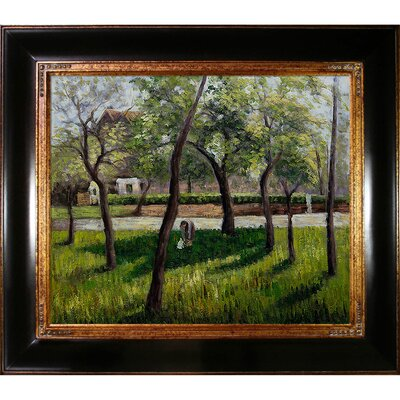 Tori Home An Enclosure in Eragny by Pissarro Framed Original Painting